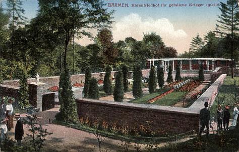 Ehrenfriedhof Barmen Feldpostkarte 1916