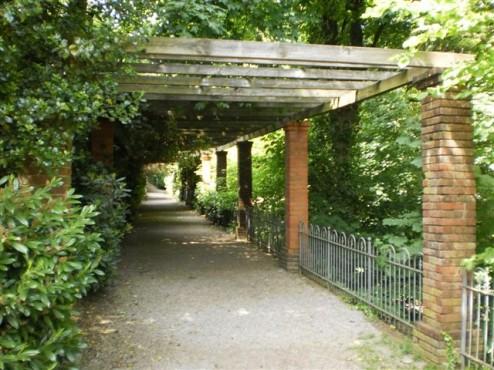 Zugang unmittelbar vor dem Park
