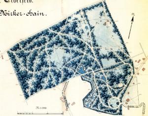 Nach dem 1. Plan von Heinrich Vincentz, Plittersdorf, 1879
