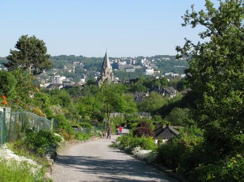 Stadtansicht Wuppertal mit Friedhofskirche