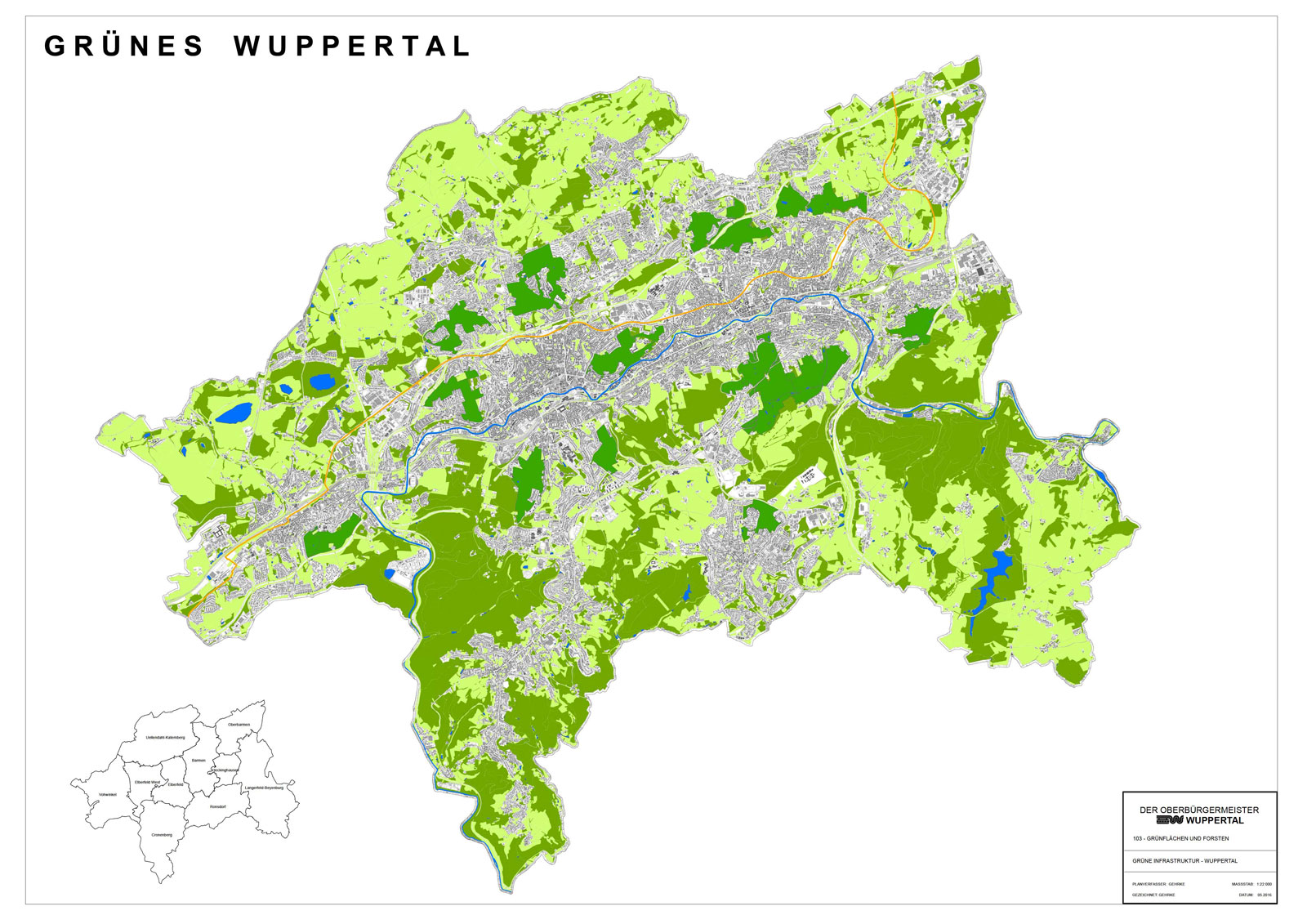 Wuppertal Karte Stadtteile.Nach Stadtteilen Wuppertals Grune Anlagen Forderverein