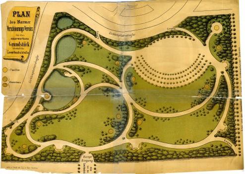 Plan für das neu erworbene Grundstück oberhalb GewerbschulstraßerbeneGrundstückoberhalbGewerbschulstr(StAW PIII 23)