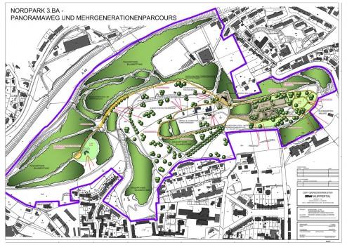 Nordpark Panoramarundweg und Mehrgenerationenparcours
