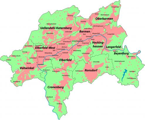 Wuppertal-stadtbezirke